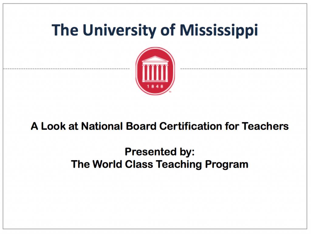 World Class Teaching Program Virtual National Board Interest Meeting
